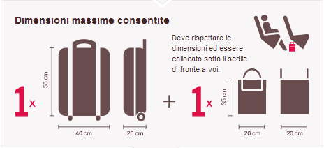 Dimensioni bagaglio Volotea