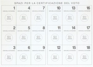 Tessera elettorale, elezioni 2013