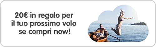 Vueling: 20 euro in regalo, buono sconto